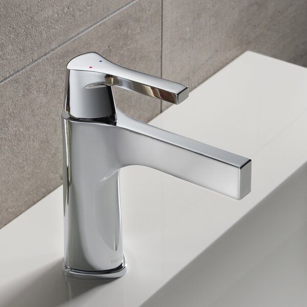 Zura Single hole Bathroom Faucet with Drain Assembly and Diamond Seal Technology by Delta