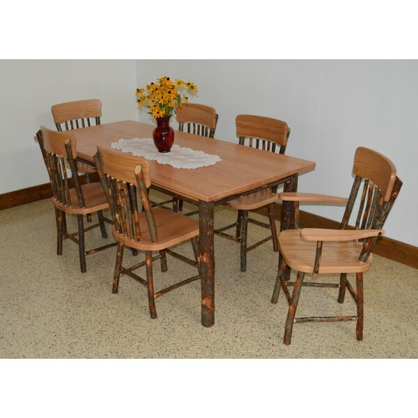 Wyton 7 Piece Solid Wood Dining Set by Loon Peak