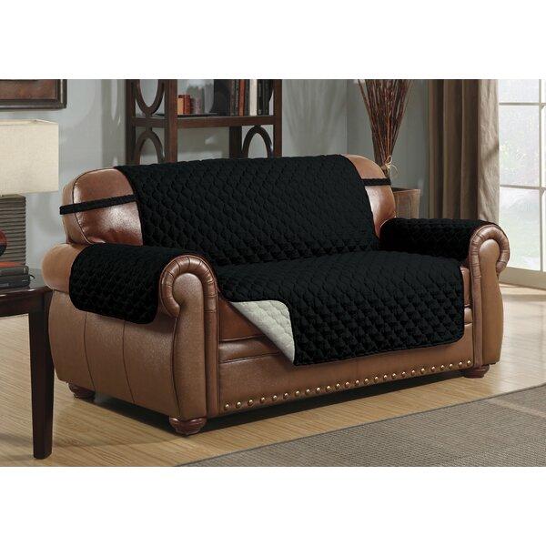 Reversible Microfiber T-Cushion Loveseat Slipcover by Winston Porter