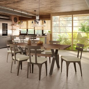 Darcelle 5 Piece Solid Wood and Metal Dining Set By17 Stories