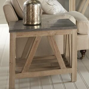 Blue Stone End Table by Orient Express Furniture