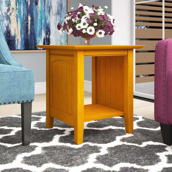 Tolleson Solid Wood End Table With Storage By Charlton Home