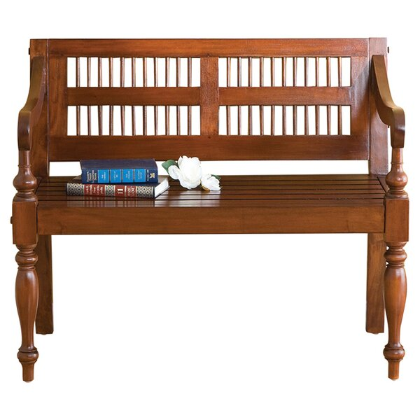 Raposo Classic Wood Bench by Three Posts