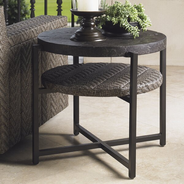 Alfresco Living Stone/Concrete Side Table by Tommy Bahama Outdoor