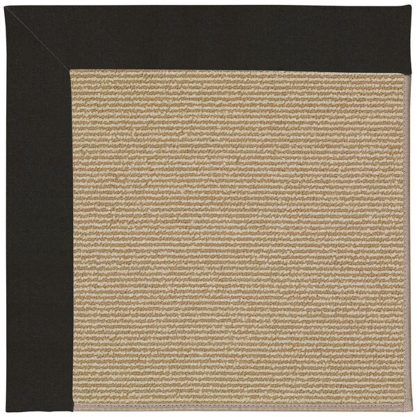 Lisle Light Brown Indoor/Outdoor Area Rug by Longshore Tides