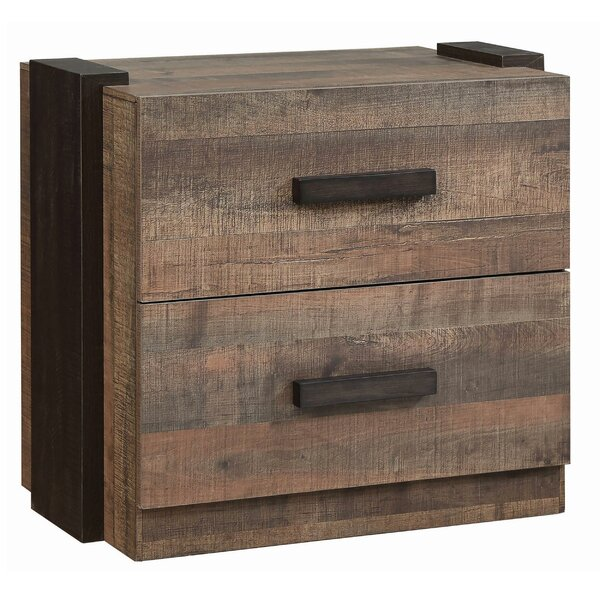 Lought 2 Drawer Nightstand by Loon Peak Loon Peak
