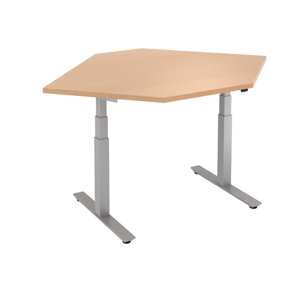 Straight Corner Height Adjustable Standing Desk by Trendway