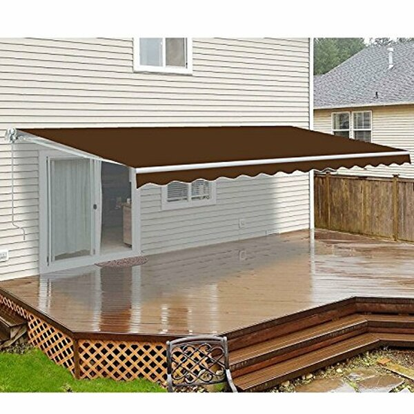 Motorized 12 ft. W x 10 ft. D Retractable Patio Awning by ALEKO