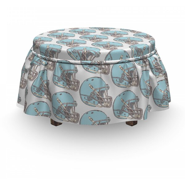 American Football Safety Sketch 2 Piece Box Cushion Ottoman Slipcover Set By East Urban Home