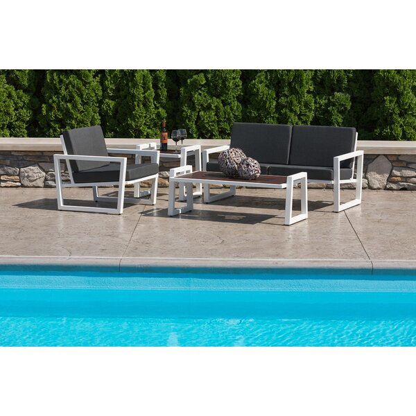 Waubun 4 Piece Sunbrella Sofa Seating Group with Cushions by Brayden Studio