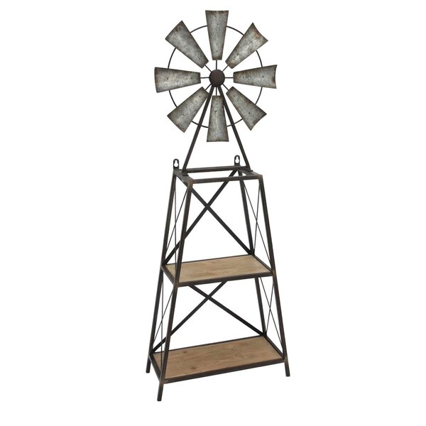 Wood Windmill Table or Wall Shelf by Sagebrook Home