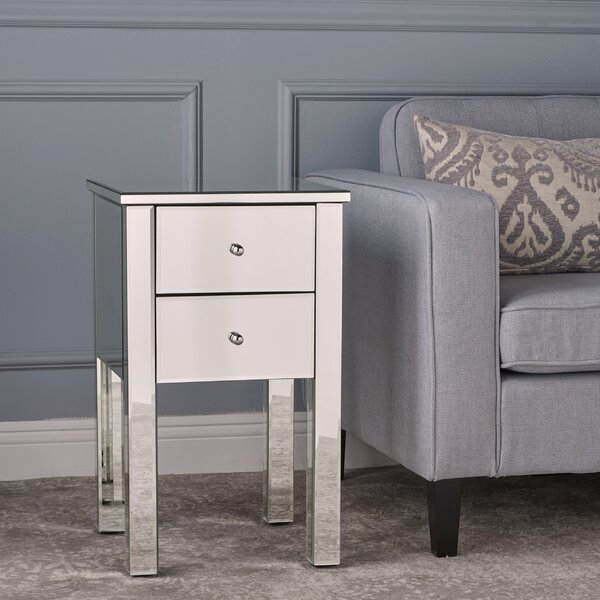 Dalveen Mirror End Table by Mercer41