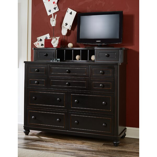 Leyla 10 Drawer Dresser with Mirror by Grovelane Teen