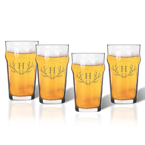 Maximo Nonic/Pub 16 Oz. Beer Glass (Set of 4) by Union Rustic