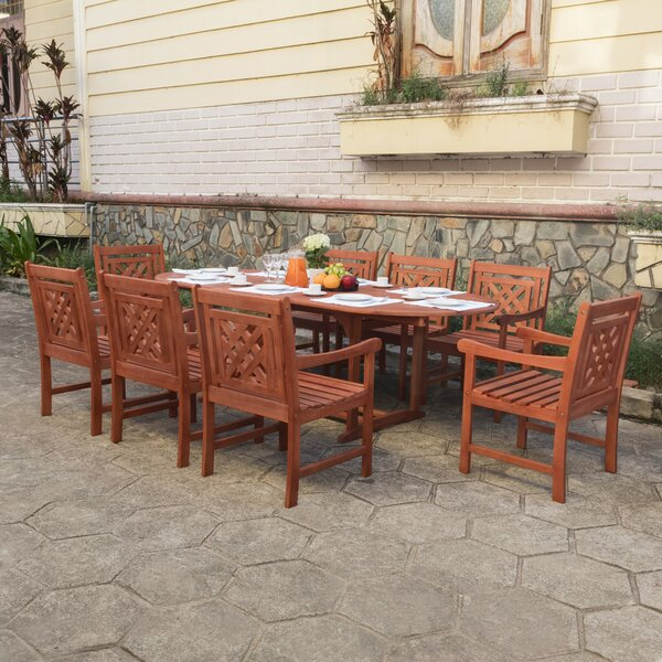 Amabel 9 Piece Patio Dining Set by Beachcrest Home
