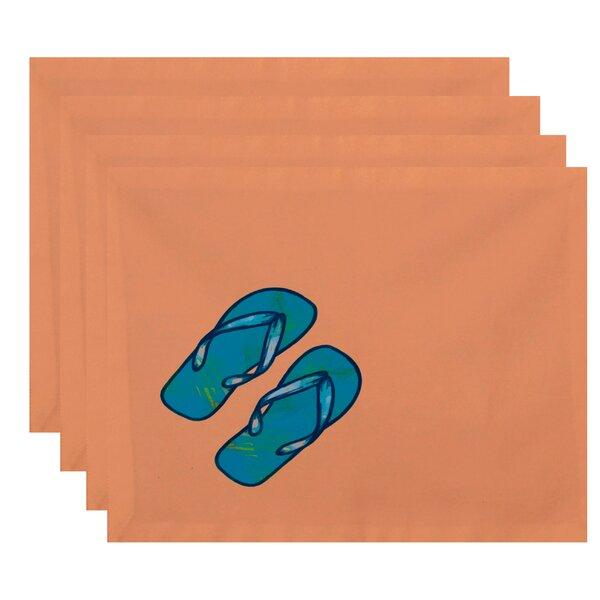 Ekoa Flip Flops Geometric Print Placemat (Set of 4) by Bay Isle Home