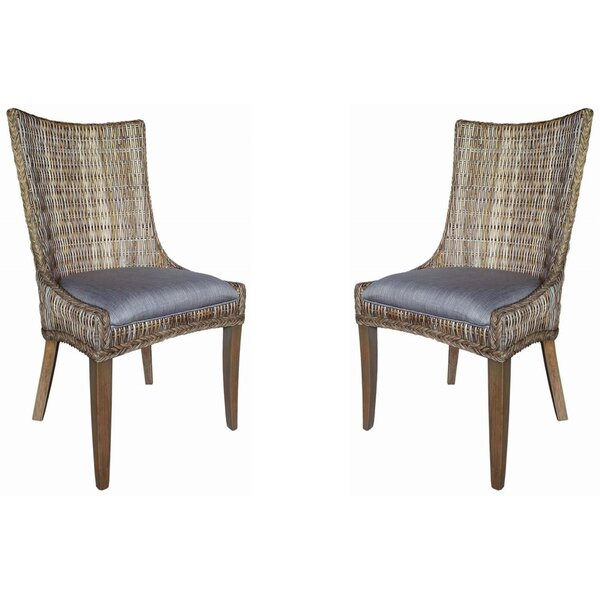 Gwendoline Ridge Upholstered Dining Chair (Set of 2) by Bayou Breeze