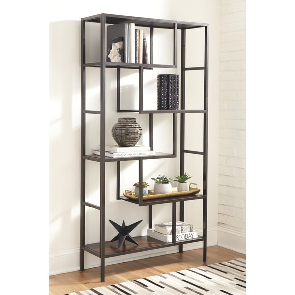 Review Sorrentino Geometric Etagere Bookcase