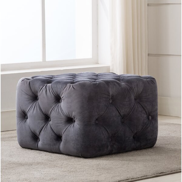 Bridges Square Tufted Cube Ottoman by House of Hampton