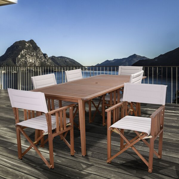 Medrano Panama 7 Piece Dining Set by Longshore Tides
