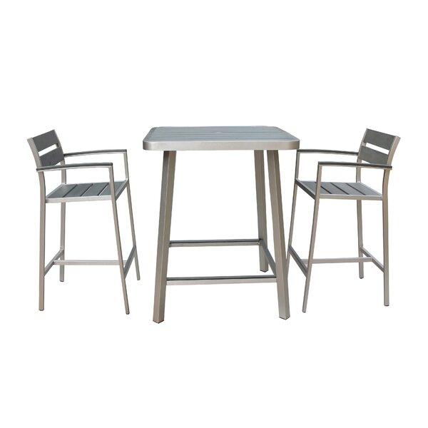 Canaria 3 Piece Bar Height Dining Set by Boraam Industries Inc