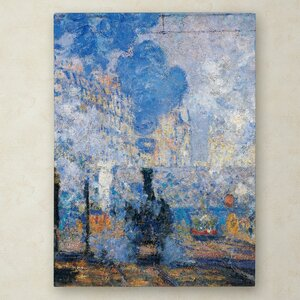 Saint Lazare Station by Claude Monet Painting Print on Wrapped Canvas by Trademark Fine Art