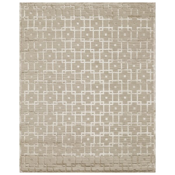 Hanks Hand-Knotted Wool Beige Area Rug by Exquisite Rugs
