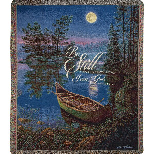Moonlight Bay Tapestry Cotton Throw by Manual Woodworkers & Weavers