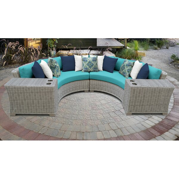 Claire 4 Piece Sectional Seating Group with Cushions by Rosecliff Heights