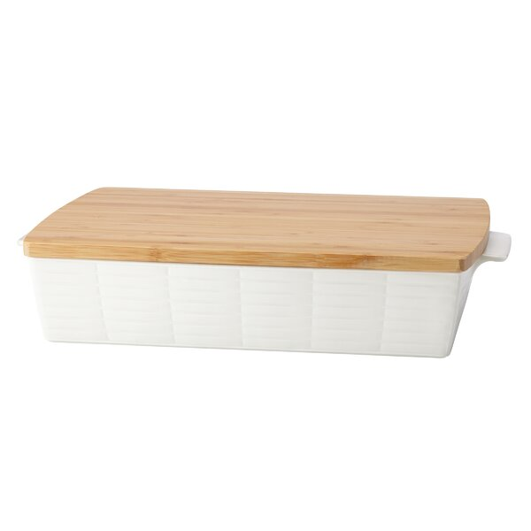 Entertain 365 Sculpture Rectangular Baker with Lid by Lenox