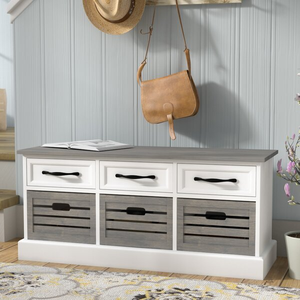 Sarrant Wood  Storage Bench by Laurel Foundry Modern Farmhouse