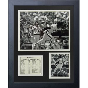 Rod Carew - 3000th Hit Framed Memorabilia by Legends Never Die