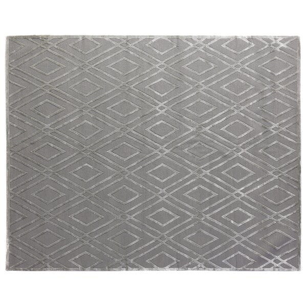 Metro Hand-Knotted Gray Area Rug by Exquisite Rugs