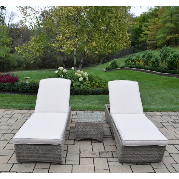 Mekhi Chaise Lounge with Cushion by Rosecliff Heights Rosecliff Heights