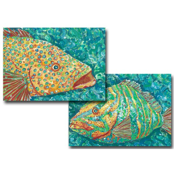 Spotted Grouper &  Striped Grouper Placemat (Set of 4) by My Island