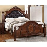 Varney Transitional Wooden Upholstered Standard Bed by Astoria Grand