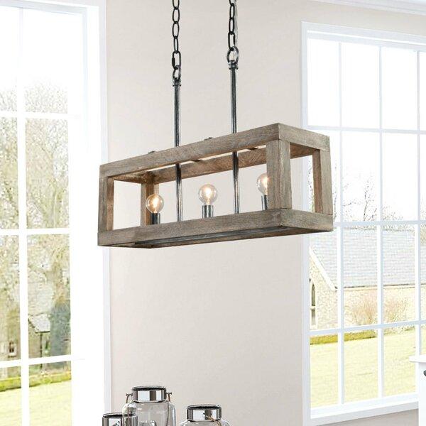 Elsebeth 6 - Light Lantern Rectangle Chandelier By Gracie Oaks