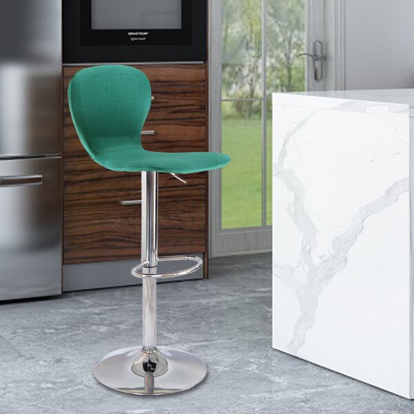Ranson Adjustable Height Swivel Bar Stool by Wrought Studio