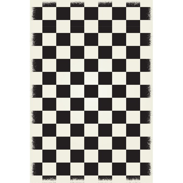 Wendling Black/White Indoor/Outdoor Area Rug by Winston Porter