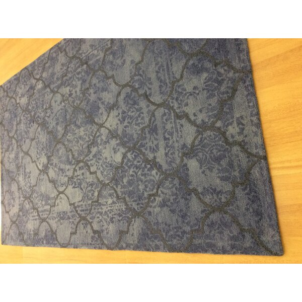 Hand-Woven Gray/Blue Area Rug by Eastern Weavers