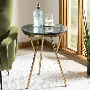 Creek Round Marble End Table