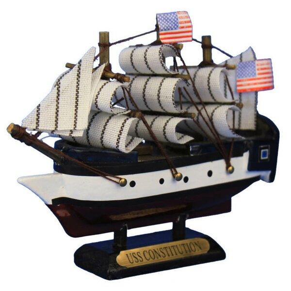 Handmade Constitution Tall Model Ship by Breakwater Bay