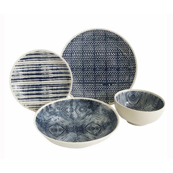 Dalton 16 Piece Dinnerware Set, Service for 4 by B