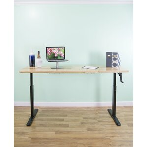 manual crank stand up frame system standing desk