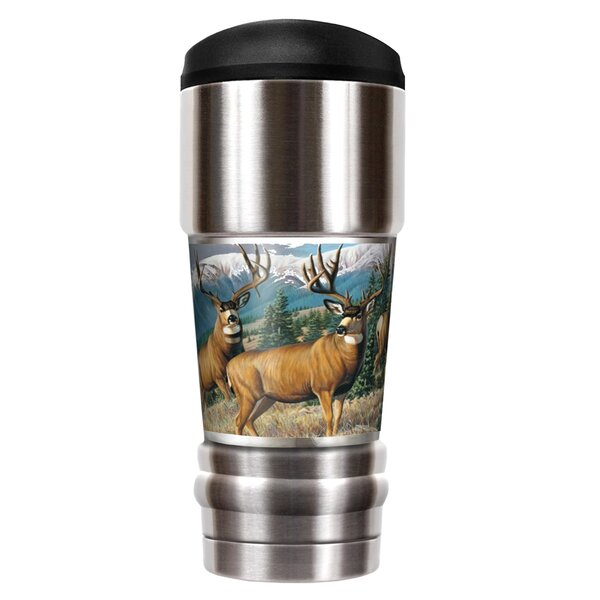Male Deer Traditions 18 oz. Stainless Steel Travel Tumbler by Great American Products