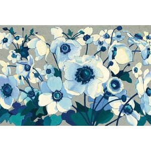 Anemones Japonaises I Painting Print on Wrapped Canvas by Alcott Hill