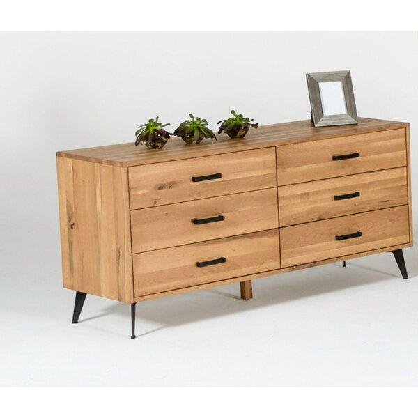 Hill Modern 6 Drawer Double Dresser by Langley Street
