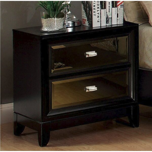Loyce 2 Drawer Nightstand by Everly Quinn