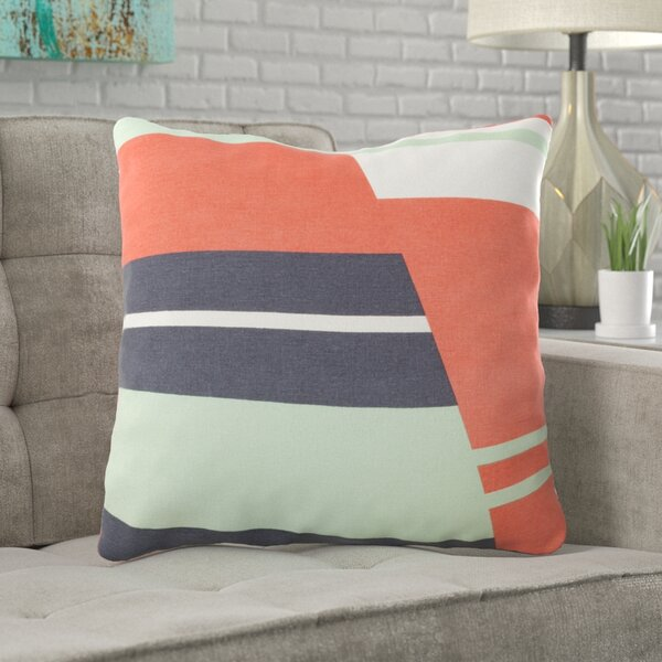 Clio Square Zipped Cotton Throw Pillow by Ivy Bronx