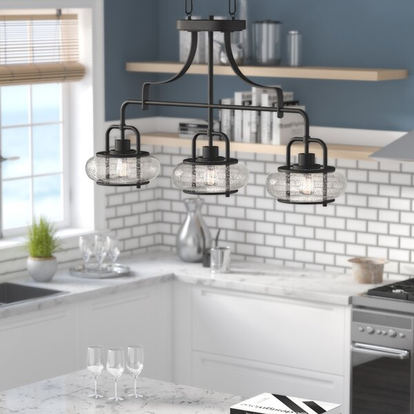 Braxton 3-Light Kitchen Island Pendant by Beachcrest Home
